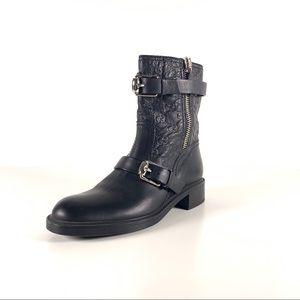 Gucci Guccissima Leather Monogram Moto Boots